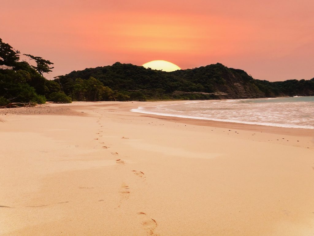 Beach, Sunset, Coast, Costa Rica, Sunset Beach, Sea