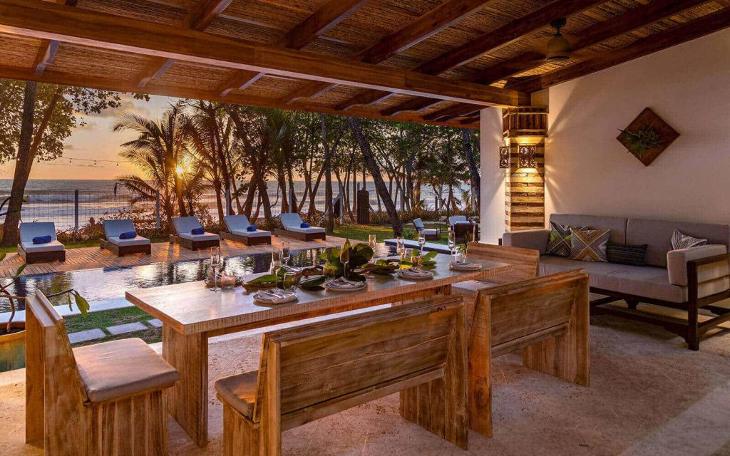 Casa Teresa Luxury Villa Dining Room Evening View