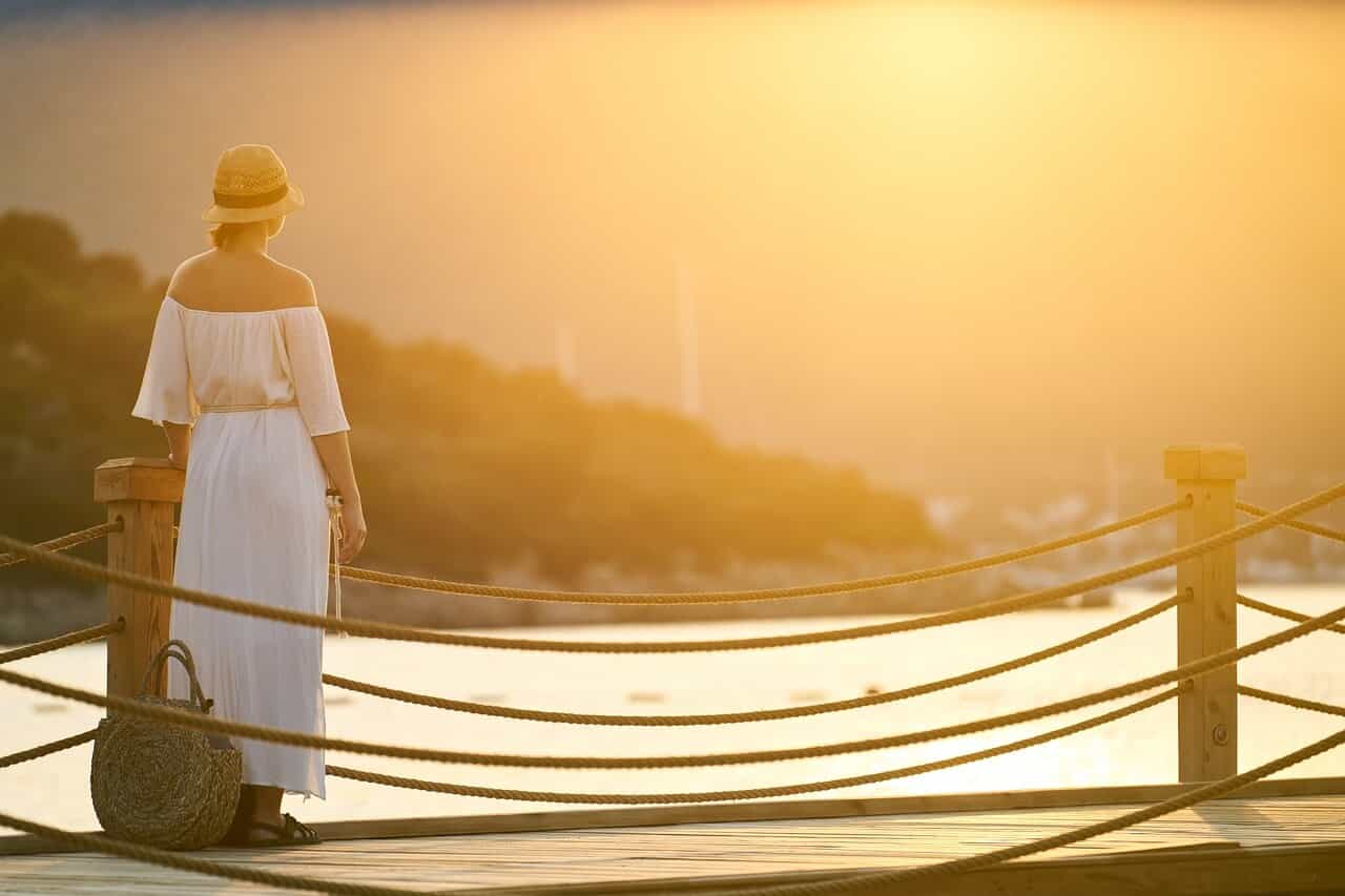 Holiday, Woman, Only, Sunset, Solar, Romantic, B Add