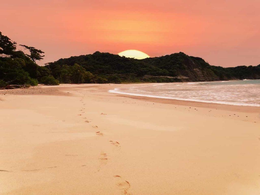 Beach, Sunset, Coast, Costa Rica, Sunset Beach, Sea