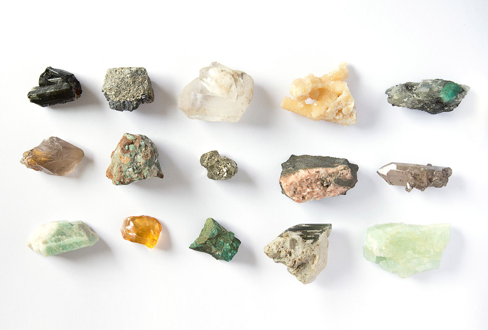 Assorted selection of gems and stones
