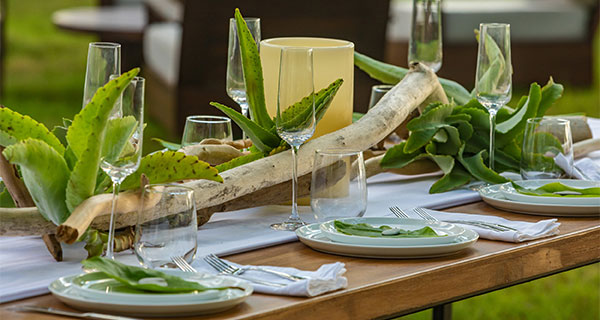 Casa Teresa Luxury Villa Decorated table