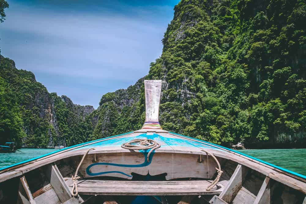 Front Boat Tropical River